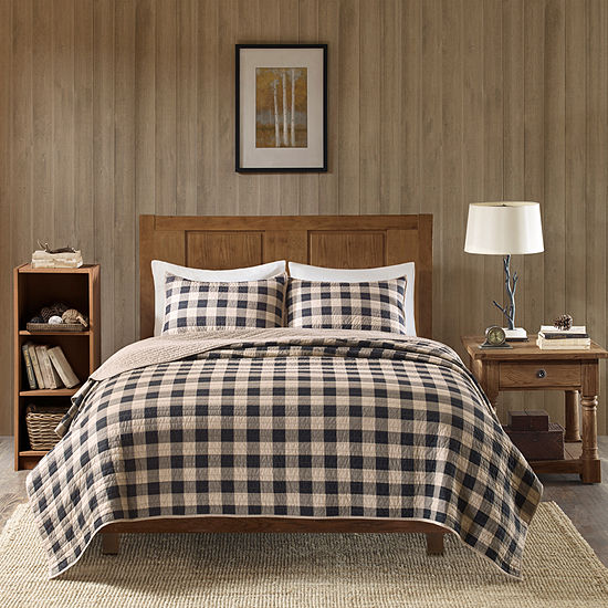 Woolrich Buffalo Check Cotton 3-pc. Quilt Set