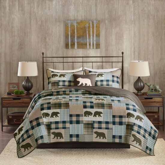 Woolrich Twin Falls Printed Oversized 4-pc. Quilt Set