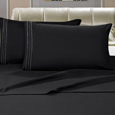 Elegant Comfort Wrinkle Resistant Bed Sheet set with Deep Pocket, HypoAllergenic