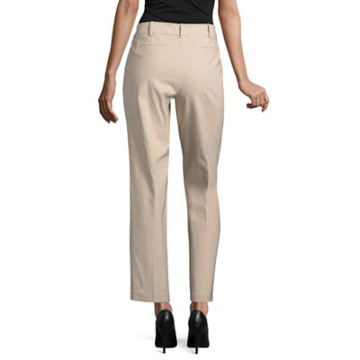 Worthington Modern Fit Ankle Pants-Petite