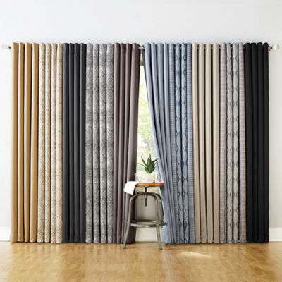 Sun Zero Tahoe Extreme Blackout Global Print Grommet-Top Curtain Panel