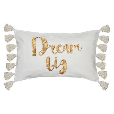 Dream Big Rectangular Throw Pillow
