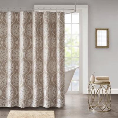 Madison Park Waylon Jacquard Shower Curtain