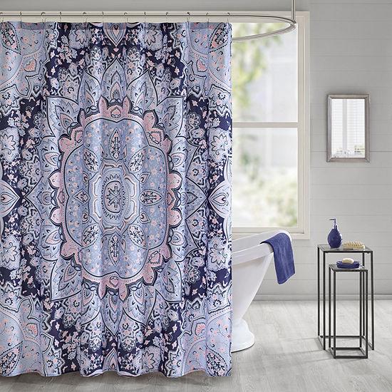 Intelligent Design Skye Printed Shower Curtain