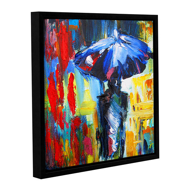Brushstone Downtown Stroll Gallery Wrapped Floater-Framed Canvas Wall Art