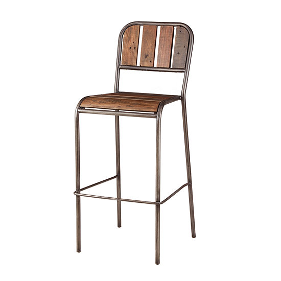 INK + IVY Renu Bar Stool With Backrest