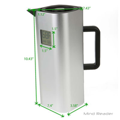 Mind Reader Double Wall Stainless Steel Thermal Coffee Carafe with Temperature