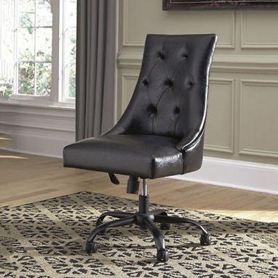 Signature Design by Ashley® Retro Chic Button-Tufted Home Office Swivel Desk Chair