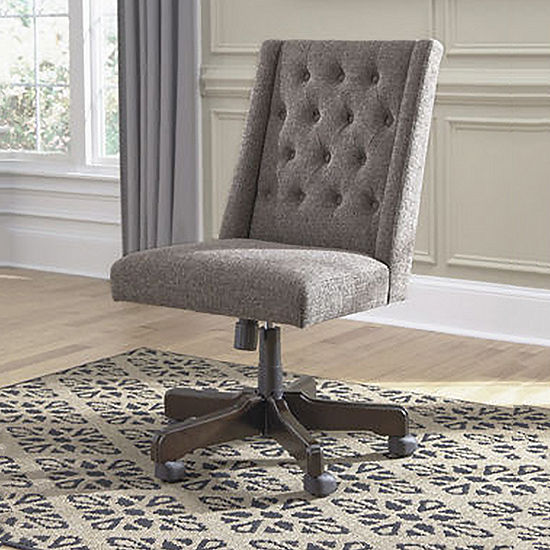 Signature Design By Ashley On Tufted Upholstered Home Office Swivel Desk Chair