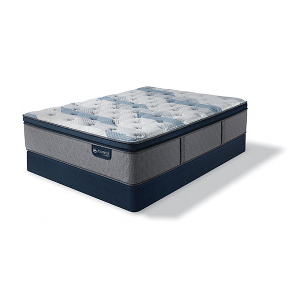 Serta Icomfort Blue Fusion 300 Plush Pillow Top Mattress Box Spring