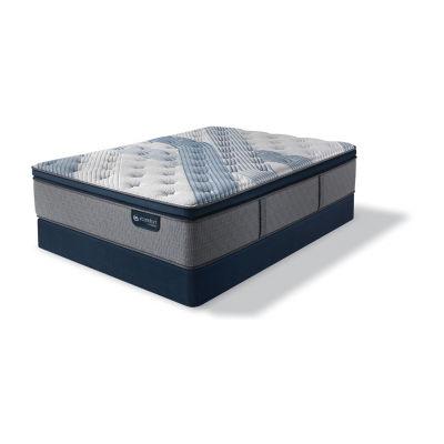Serta Icomfort Blue Fusion 1000 Plush Pillow-Top Mattress + Box Spring