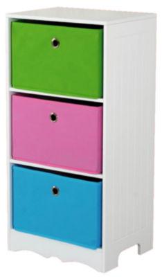 Home Basics MDF Kids Storage Shelf with 6 Canvas Bins