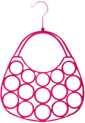 Home Basics 2-Piece Velvet Purse Flocked Scarf Hanger
