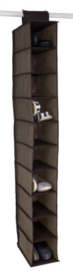 Home Basics Faux Jute 10-Shelf Closet Organizer