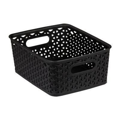 Home Basics Plastic Storage Basket