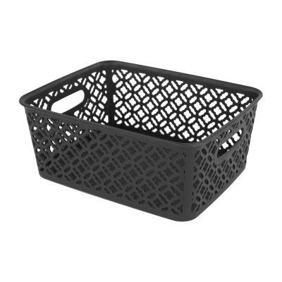Home Basics Lattice Medium Storage Basket