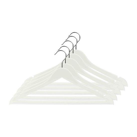 Home Basics Plastic Hangers, Pack of 5