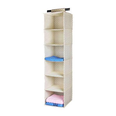 Home Basics Blossom Collection 6-Shelf Closet Organizer