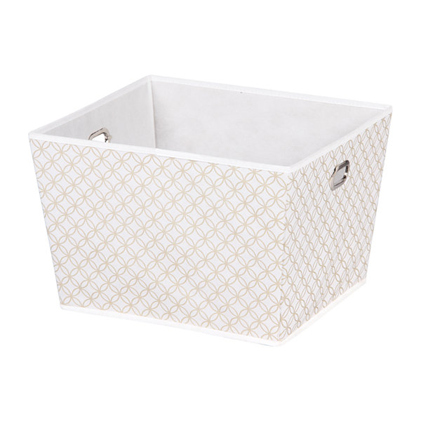 Home Basics Blossom Collection Large Storage Bin