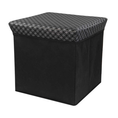 Home Basics Blossom Collection Storage Ottoman