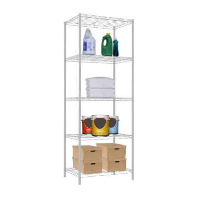 Home Basics 5 Tier Steel  Wire Shelf