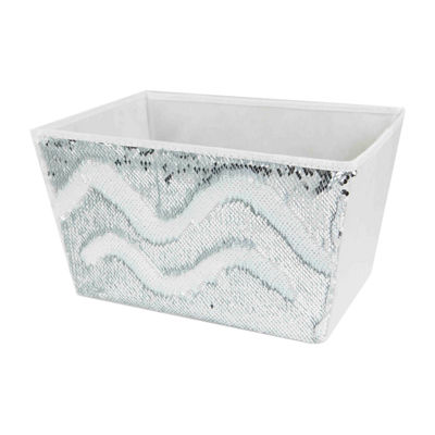 Home Basics Large Sequin Storage Bin