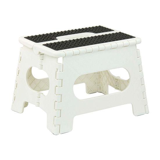 Home Basics Medium Folding Stool with Grip