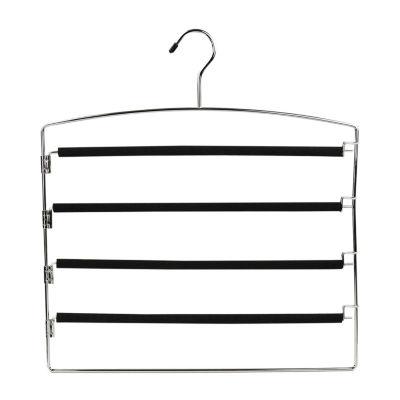 Sunbeam 4 Tier Chrome Slack Hanger with Clips
