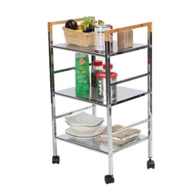 Mind Reader Metal-Top Kitchen Cart