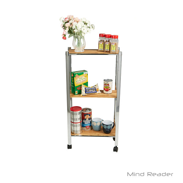 Mind Reader Wood-Top Kitchen Cart