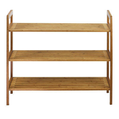 Oceanstar® 3-Tier Natural Bamboo Shoe Rack