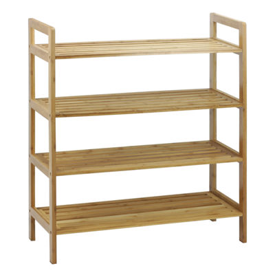 Oceanstar® 4-Tier Natural Bamboo Shoe Rack