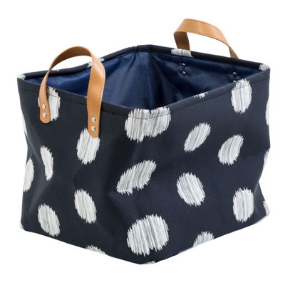 Honey-Can-Do® Coastal Collection Decorative Storage Bin Set, Navy and Grey Dot