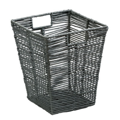 Honey-Can-Do® Coastal Collection Decorative Trash Can -Cool Grey
