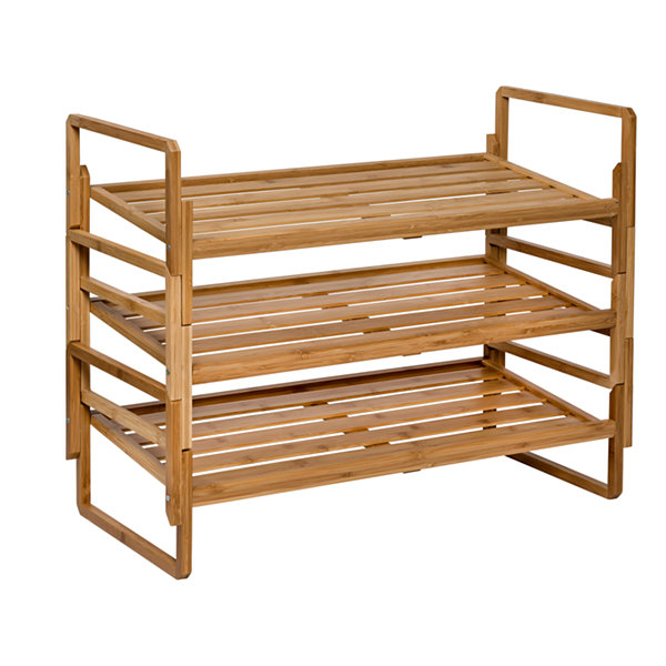 Honey-Can-Do® 3-tier Nesting Bamboo Shoe Rack