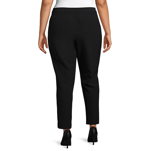 Worthington Straight Fit Ankle Pants - Plus