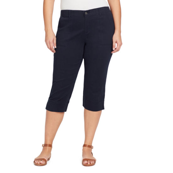 Gloria Vanderbilt® Rhea Twill Capri with Elastic Waistband-Plus