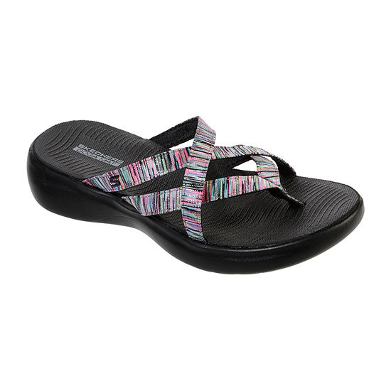 Skechers On The Go Lux Luvly Womens Footbed Sandals