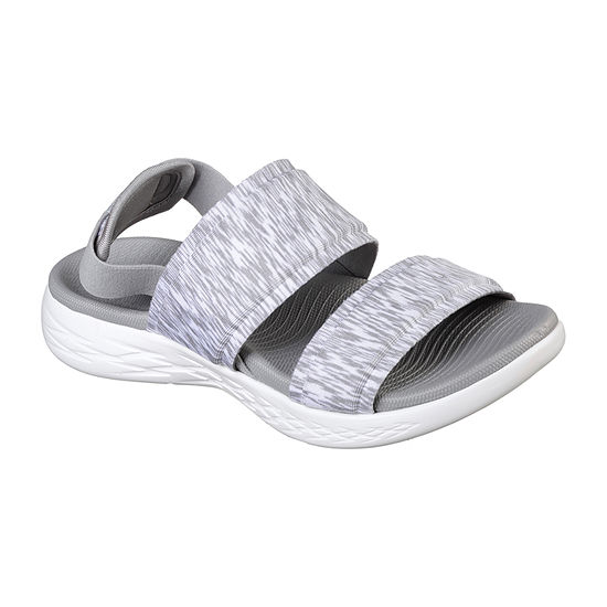 Skechers On-The-Go 600 Womens Ankle Strap Footbed Sandals
