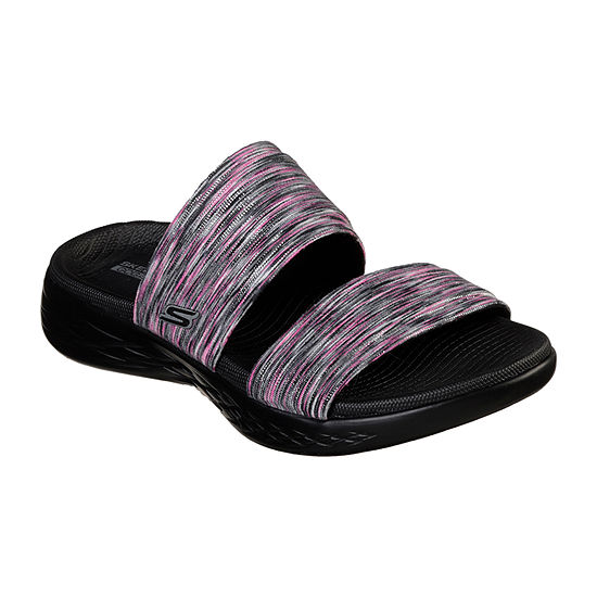Skechers On The Go Bedazzling Womens Footbed Sandals