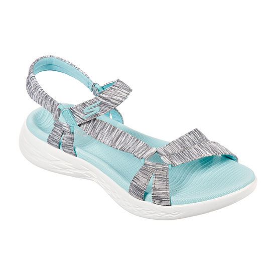 Skechers On The Go Dazzling Womens Footbed Sandals
