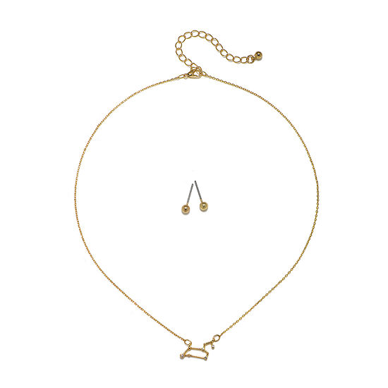 Mixit Leo Constellation Womens Pendant Necklace