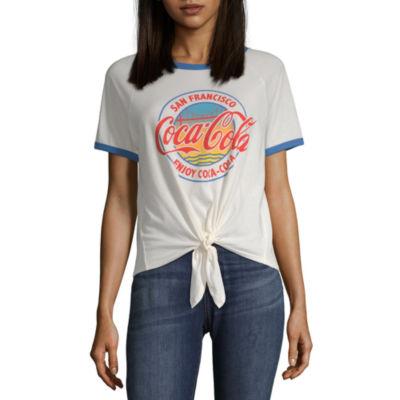 Womens Crew Neck Short Sleeve T-Shirt Juniors