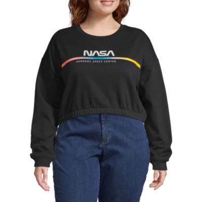 Womens Crew Neck Long Sleeve Sweatshirt Juniors