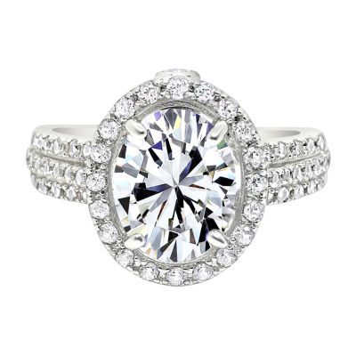 Womens Genuine White Sapphire Sterling Silver Cocktail Ring