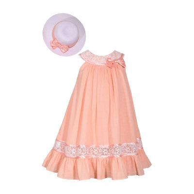Bonnie Jean Sleeveless Dress Set - Preschool Girls