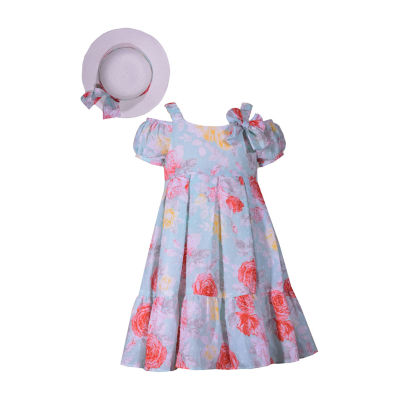 Bonnie Jean Short Sleeve Dress Set - Preschool Girls