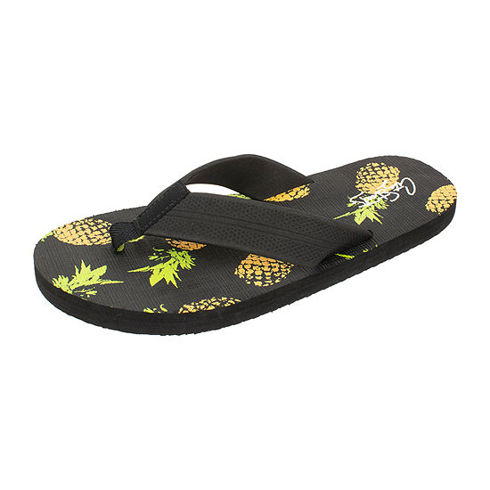 City Streets® Pineapple Flip Flops