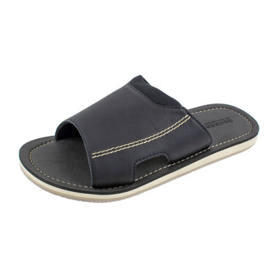 Dockers® Faux Leather Elastic Slide Sandals