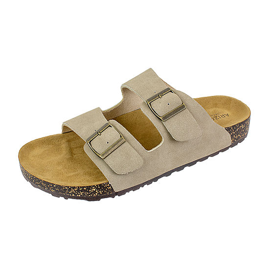 100f621190c8 Arizona® Flex Cork Two Buckle Footbed Slides - JCPenney